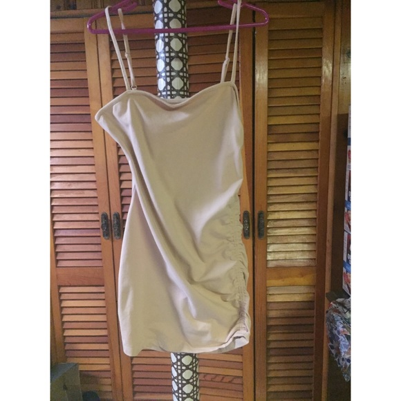 Urban Outfitters Dresses & Skirts - Urban Outfitters side gathered tan tank dress